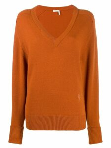 Chloé V-neck jumper - Brown