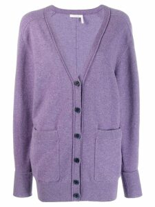 Chloé v-neck cardigan - 575 Shadow Purple