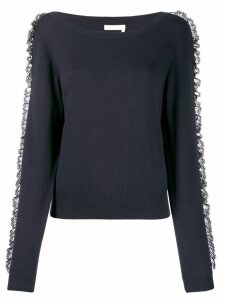 See by Chloé lace frill jumper - Blue