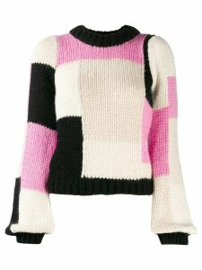 Ganni colour block jumper - Pink