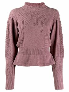 Isabel Marant Étoile peplum hem knitted jumper - PURPLE