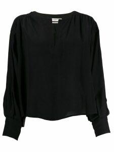 Isabel Marant Étoile long-sleeve fitted blouse - Black