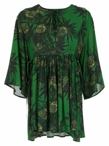 Andrea Marques printed blouse - Green