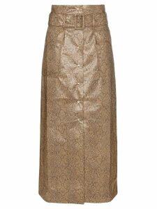 Nanushka Aarohi snakeskin print skirt - Brown
