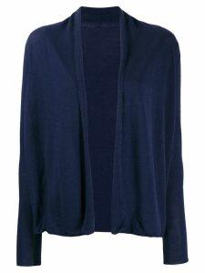 Sottomettimi fine knit open cardigan - Blue