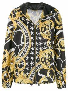 Versace printed hooded jacket - Black
