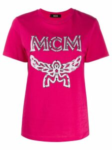 MCM logo print T-shirt - Pink