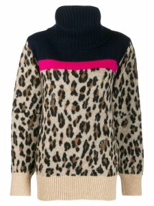 Sacai leopard knit jumper - Blue