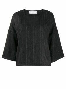 Société Anonyme striped flared top - Black