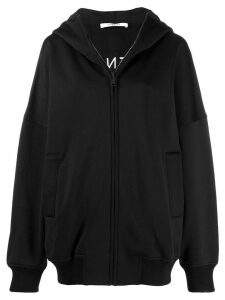 Givenchy logo oversized hooded zipper - Black