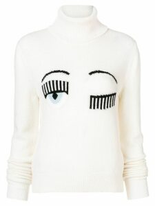 Chiara Ferragni Blinking Eye roll neck sweater - Neutrals