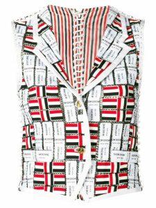 Thom Browne Grosgrain Macramé Modular Vest - White