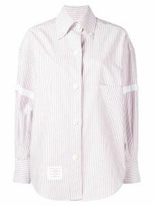 Thom Browne Supersized University Stripe Shirt - Red