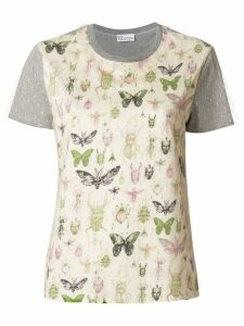 Red Valentino bug patch T-shirt - Grey