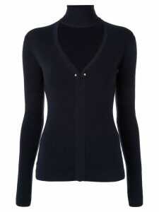 Dion Lee cut-out pierced jumper - Blue