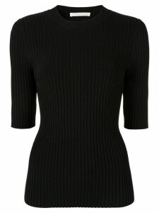 Dion Lee ribbed knit top - Black