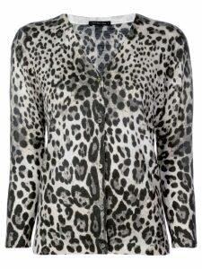 Samantha Sung Charlotte leopard print cardigan - Grey