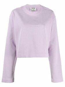 Acne Studios Odice Emboss sweatshirt - PURPLE