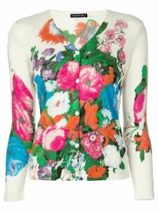 Samantha Sung Charlotte floral print cardigan - White