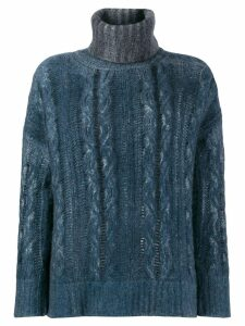 Avant Toi turtle neck jumper - Blue