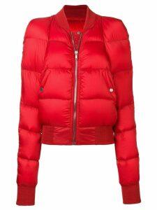 Rick Owens padded bomber jacket - Red