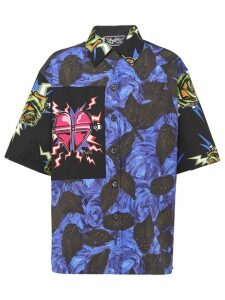 Prada rose printed shirt - Blue