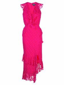 Saloni fitted polka dot dress - PINK