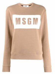 MSGM box logo sweatshirt - Brown