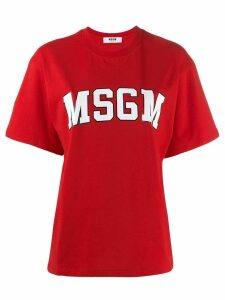 MSGM college logo T-shirt - Red