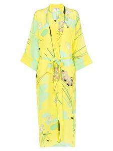Bernadette Peignoir silk kimono robe - Yellow
