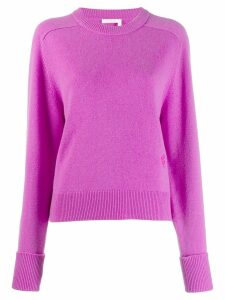 Chloé cashmere knitted jumper - PURPLE