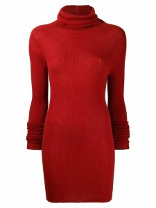 Rick Owens roll neck jumper - Red