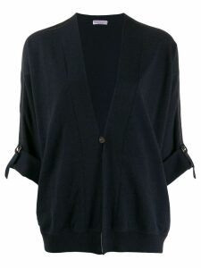 Brunello Cucinelli side stripe top - Blue