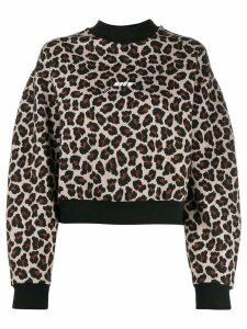 MSGM leopard print sweatshirt - NEUTRALS