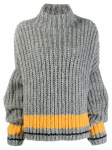 Dsquared2 Alpaca Turtleneck Over Pullover - Grey