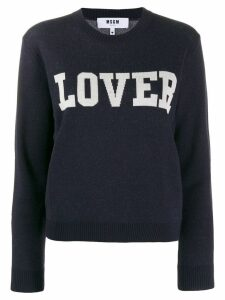 MSGM knitted sweatshirt - Blue