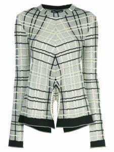 Proenza Schouler plaid split-front jumper - Black
