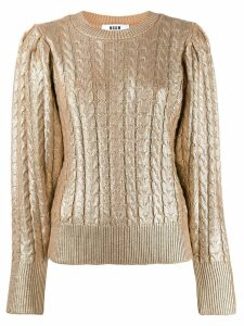 MSGM metallic knitted jumper - GOLD