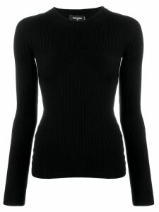 Dsquared2 ribbed knit sweater - Black