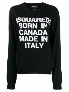 Dsquared2 intarsia logo knitted sweater - Black