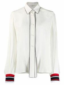 Golden Goose striped cuff shirt - White