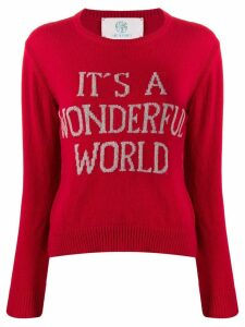 Alberta Ferretti It's A Wonderful World jumper - Red