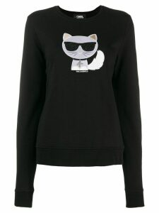 Karl Lagerfeld Ikonik Choupette sweater - Black