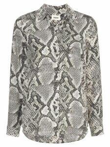 L'agence snake print shirt - Neutrals