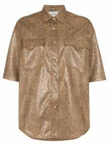 Nanushka Saymore Western snakeskin-print shirt - Brown