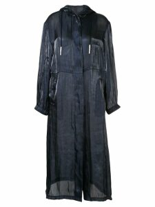 Manning Cartell long-line jacket - Blue