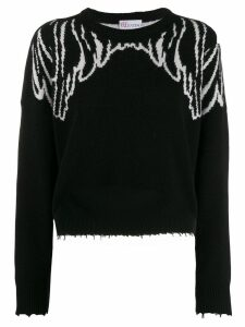 Red Valentino Spread your wings sweater - Black