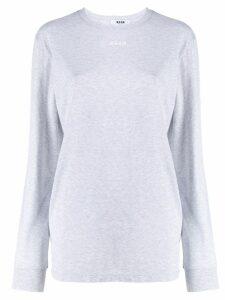 MSGM micro logo sweatshirt - Grey