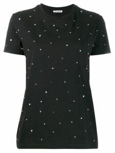 Miu Miu crystal-embellished T-shirt - Black