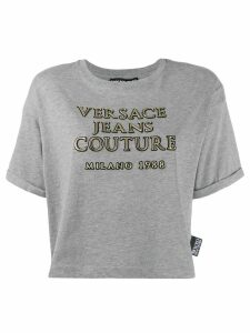 Versace Jeans Couture printed cropped T-shirt - Grey
